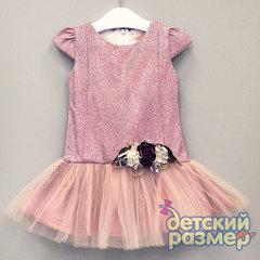 Платье 80-104 (блестки, сетка)