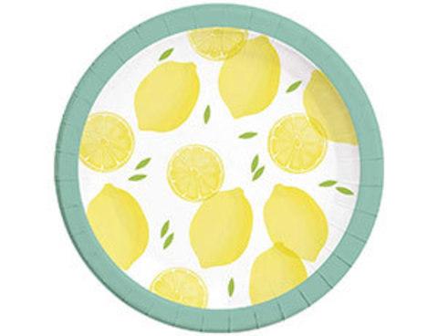 Тарелка Лимоны 23см 8шт/Р