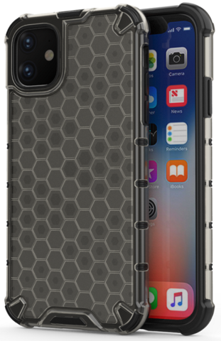 Чехол в темном корпусе на iPhone 11 от Caseport, серия Honey