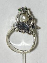 Лягушонок (кольцо  из серебра)