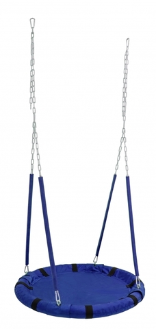 Качели подвесные Гнездо (полотно 900 мм) цв.синий до 100кг
