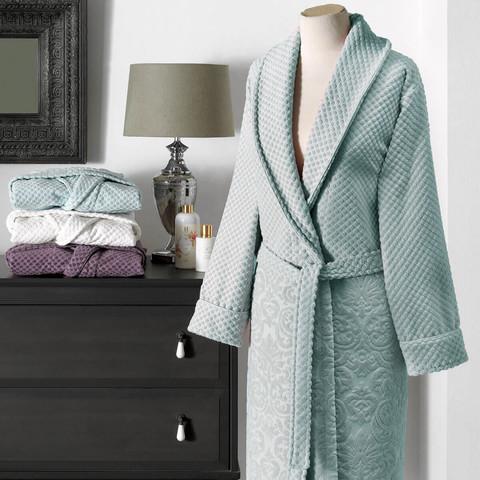 Lisa бирюзовый махровый женский халат  Tivolyo Home (Турция)