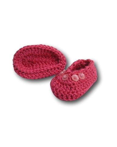 Вязаные туфли - Цикламеновый. Одежда для кукол, пупсов и мягких игрушек.