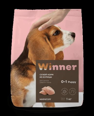 Сухой корм Winner Мираторг для щенков средних пород