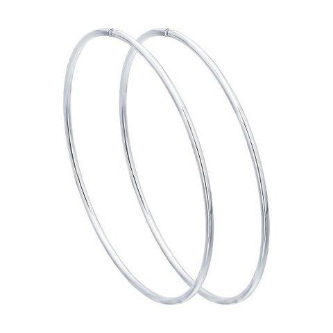 94140050- Серьги-конго 6см гладкие из серебра