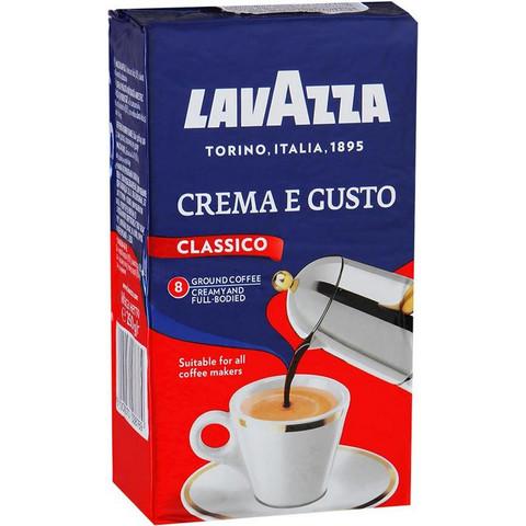 Кофе молотый Lavazza Crema e Gusto Classico 250 г (вакуумная упаковка)