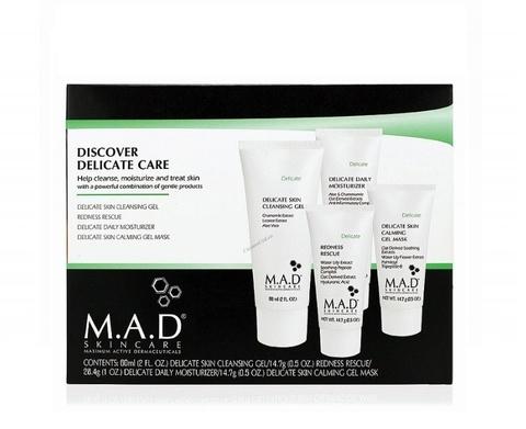 Набор дорожный препаратов для чувствительной кожи M.A.D Skincare Delicate Discovery Kit, 4 шт