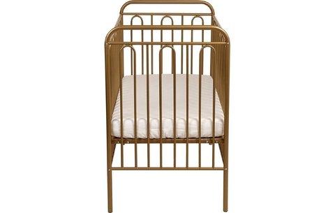 Кроватка детская Polini kids Vintage 110 металлическая, бронзовый