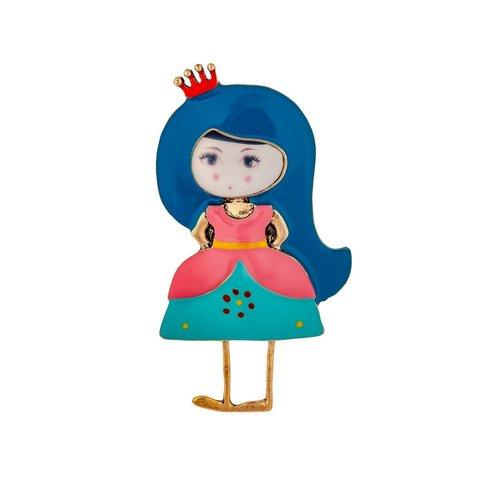 Брошь Принцесса XZ0077.21 BL/G