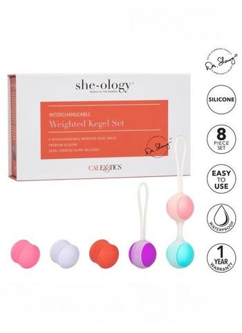 Набор вагинальных шариков Кегеля со сменным грузом  She-Ology