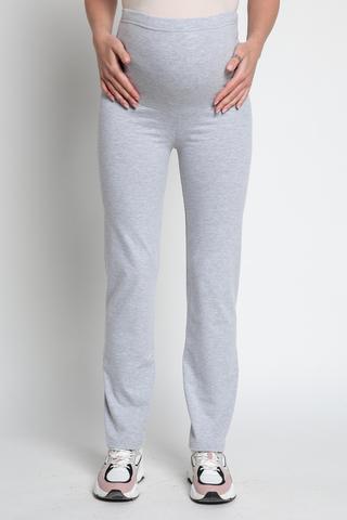 Спортивные брюки для беременных 13066 серый меланж