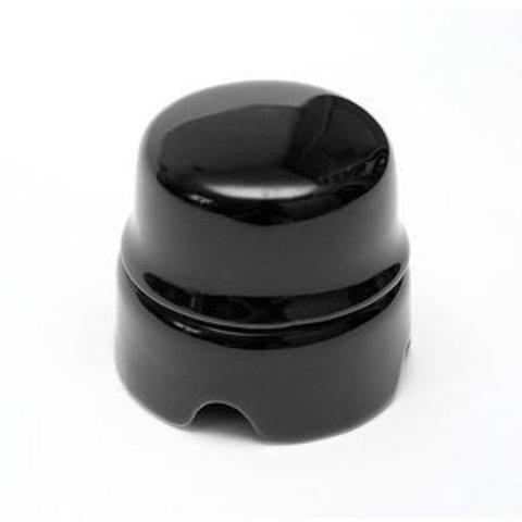 Распаечная коробка большая D85, для наружного монтажа. Цвет Чёрный. Salvador. BOX2BL