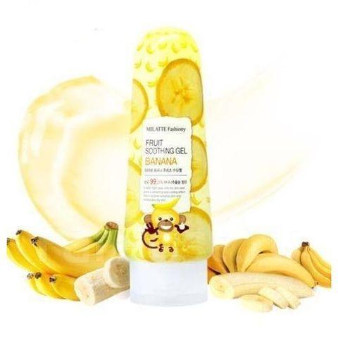 Milatte Fashiony Fruit Soothing Gel гль для лица и тела многофункциональный банановый
