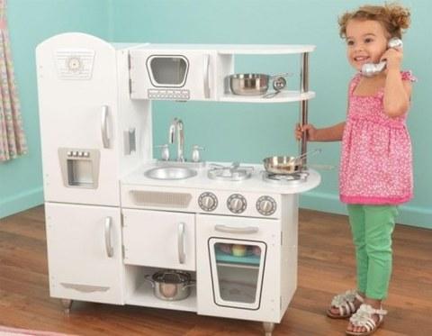 Детская игрушечная кухня из дерева KidKraft Винтаж Белый 53402_KE
