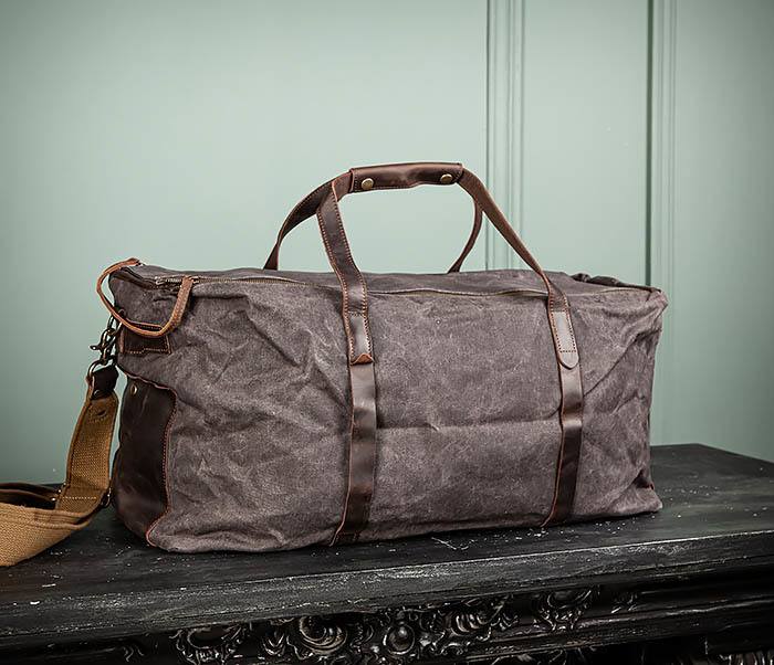 BAG499-1 Мужская дорожная сумка из ткани с ремнем