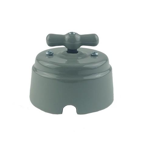 Выключатель керамический 1-2 клавишный (серый)