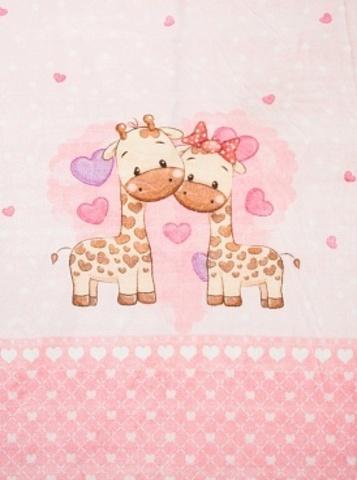 Чудо-Чадо. Плед Мимилашка ультрасофт 120х88 см, розовый/жирафы