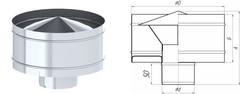 Дефлектор TMF ф200, 0,5мм нерж