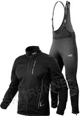 Утеплённый лыжный костюм 905 Victory Code Speed Up Black A2 с высокой спинкой мужской
