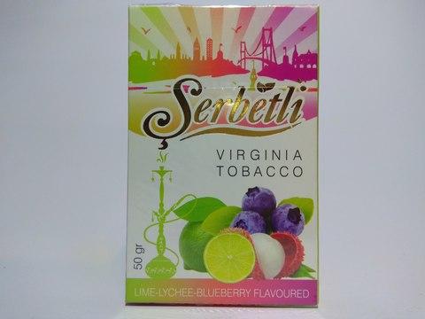 Табак для кальяна SERBETLI Lime Lychee Blueberry 50gr
