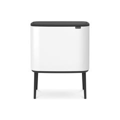 Мусорный бак Touch Bin Bo (11 л + 23 л), Белый