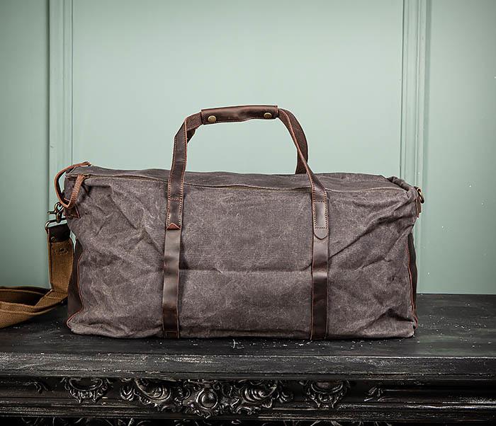 BAG499-1 Мужская дорожная сумка из ткани с ремнем фото 02
