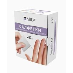 MILV, Салфетки для обезжиривания и удаления липкого слоя, 200 шт