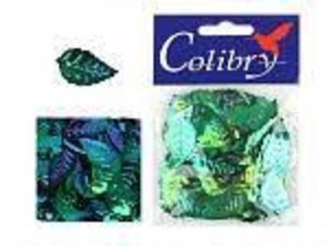 Пайетки фигурные голографические Colibry. Листья 14*25 мм. Цвет 22