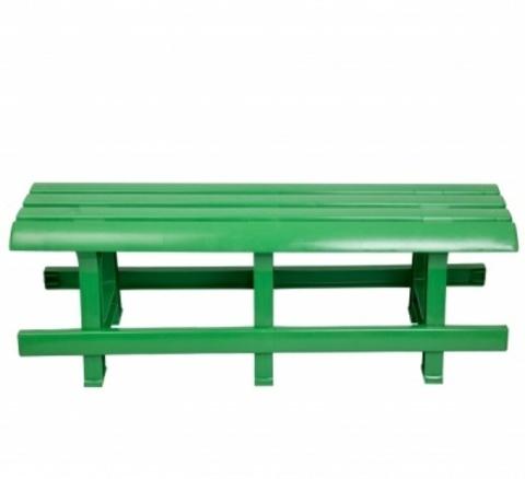 Пластиковая скамья №3 зеленая