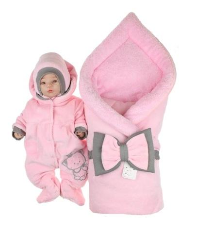 Комплект на выписку зимний для девочки Котёнок