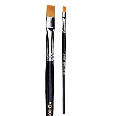 MEHRON Кисть плоская 1/4 inch Flat End Brush, 6 мм