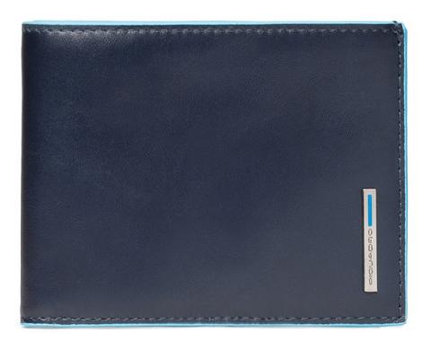 Кошелек Piquadro Blue Square, синий, 12,5х9,5х2 см