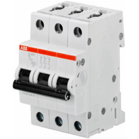 Автоматический выключатель 3-полюсный 3 А, тип D, 6 кА S203 D3. ABB. 2CDS253001R0031