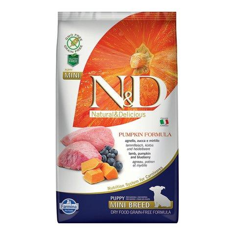 Farmina N&D Dog сухой корм для щенков мелких пород (ягненок с черникой и тыквой) 2,5 кг