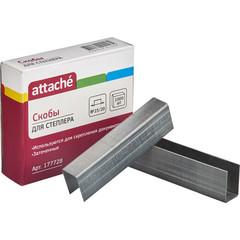 Скобы канцелярские для степлера №23/20 Attache оцинкованные (1000 штук в упаковке)