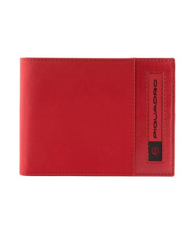 Кошелек Piquadro Bios, красный, 13x10x1,5 см