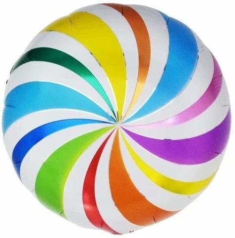 Фольгированный шар Леденец разноцветный