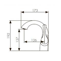 Смеситель KAISER Comba 48011 хром и 48011-1 бронза для раковины схема