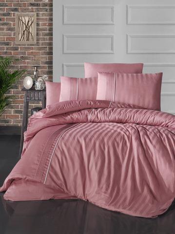 Комплект постельного белья DO&CO Сатин  жаккард DELUX MODALIFE  2 спальный Евро цвет цвет брусничный
