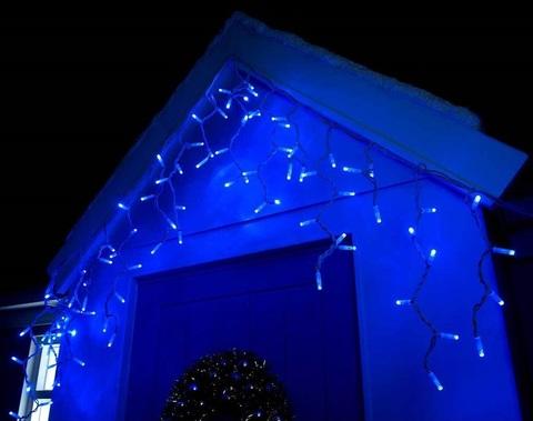 Светодиодная уличная новогодняя гирлянда бахрома на фасад дома