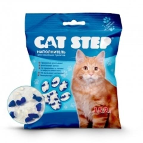 Наполнитель для кошачьих туалетов Cat Step 15,2л, силикагелевый впитывающий