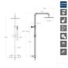 Душевая система с термостатом и тропическим душем для ванны DRAKO 335403RM250 - фото №2