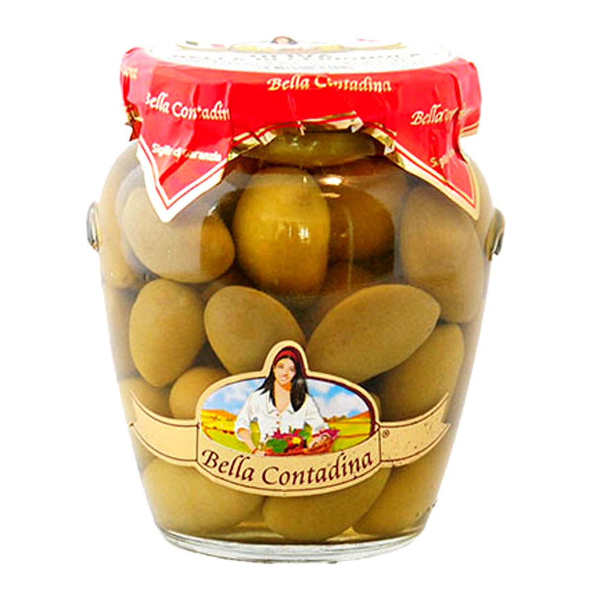 Оливки  гигантские амфора Bella Contadina 550 г