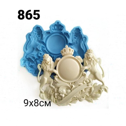 0865 Молд силиконовый. Картуш Львы маленький.
