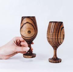 Набор бокалов для вина из дерева «Сибирский вяз», фото 2