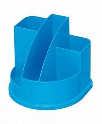 Подставка д/канц АВАНГАРД 5 отд. голуб. интенсив пластик