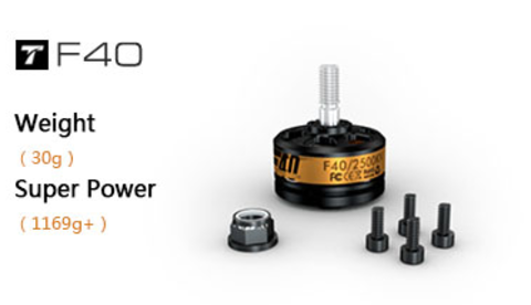 Электромотор T-Motor F40 KV2300 v2 (комплект: 2шт) для fpv-гонок