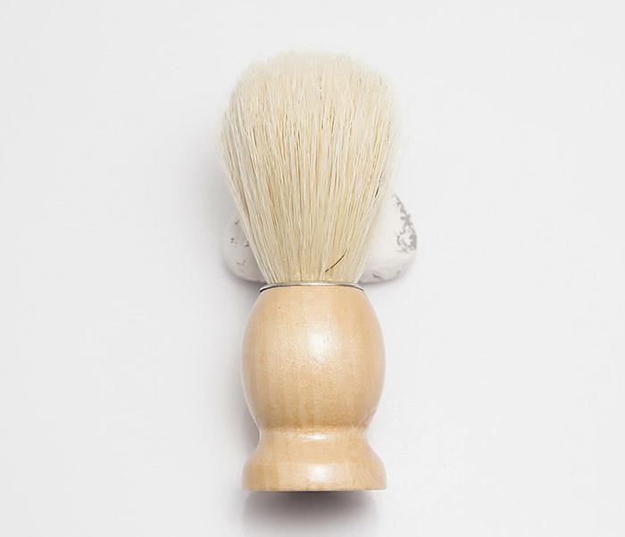 RAZ302-3 Помазок для бритья с деревянной рукояткой фото 02