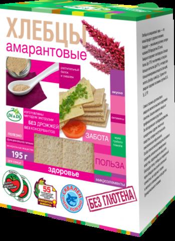 Хлебцы амарантовые, 195 гр. (Ди энд Ди)