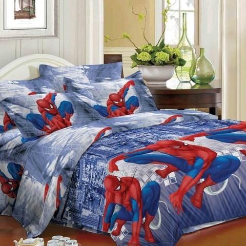 Ткань полисатин Человек паук 1262